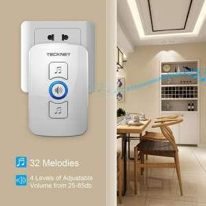 TeckNet Wireless Doorbell Melodies