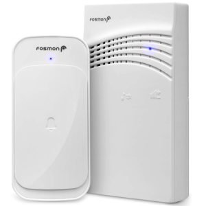 Fosmon Portable Wireless Doorbell, 1 transmitter and 1 portable receiver