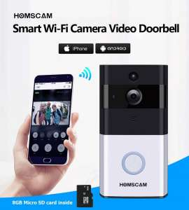 HOMSCAM Video Doorbell Wi-fi Enabled Wireless Door Bells