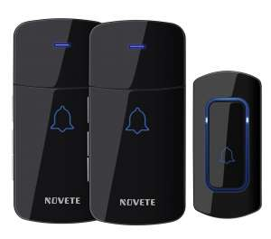 NOVETE 1300 Feet Long Range Waterproof wireless doorbell