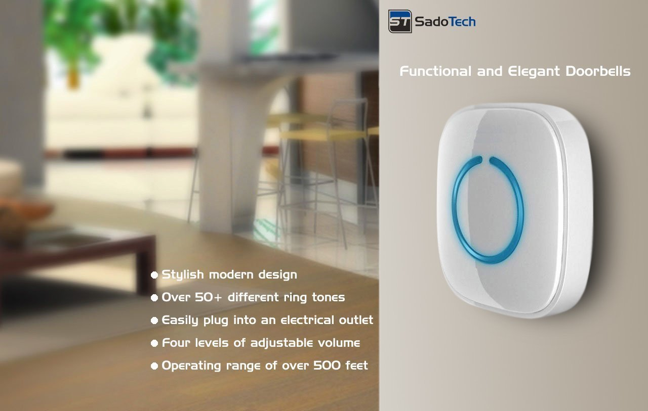 SadoTech Model C Wireless Doorbell Review Features