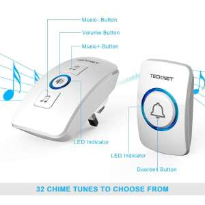 TeckNet Wall Plug-in Wireless Doorbell