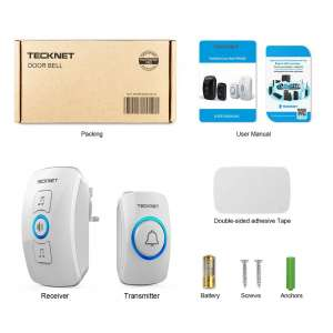 TeckNet Wall Plug-in Wireless Doorbell Kit