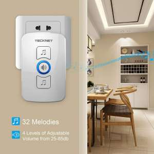 TeckNet Wireless Doorbell Melodies