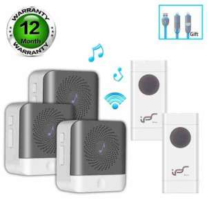 Wireless-Doorbells-Waterproof-Door-Chime-Kit