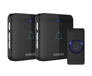 AVANTEK D-3B wireless doorbell, 2 receivers