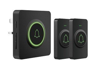 AVANTEK Black DB-21 Loud Wireless Doorbell